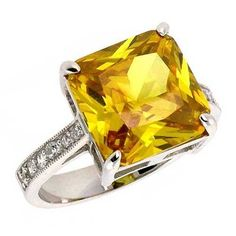Yellow Topaz ring - also my November birthstone (although most use Citrine now). I like that it's square. Jewelry Box, Jewelery, Jewelry Accessories, Jewelry Ideas, Topaz Jewelry, My Birthstone, Right Hand Rings, My Engagement Ring, Western Jewelry