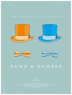dumbdumber1 48 Minimal Movie Poster Designs