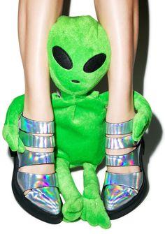 Y.R.U. Hologram Katana Booties | Dolls Kill