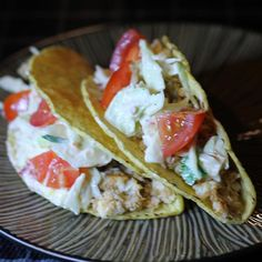 "Spicy Fish Tacos with Fresh Lime Sauce | ""Everyone loved this recipe! It's an easy and healthy week night meal. The cole slaw topping is awesome."""