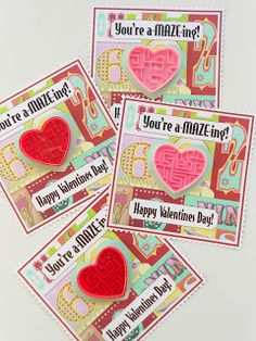 a-MAZE-ing School Valentines ~Free Printable & Project (I saw these mazes on sale at Michael's just yesterday!)