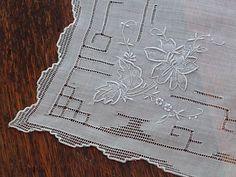 Em's Heart Antique Linens -Vintage Linen Hanky