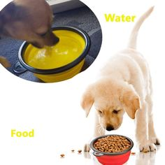 TAILUP Big Size Collapsible Dog Bowl Foldable Expandable Cup Dish for Pet Cat Food Water Feeding Portable Travel Bowl Carabiner