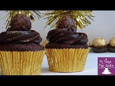 Cupcakes de Ferrero Rocher con chocolate y avellanas - YouTube