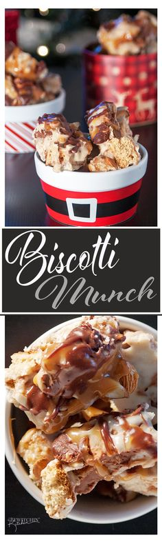 Biscotti Munch - this Christmas baking recipe is so simple and easy. It's no bake and you just layer everything together. It's a huge hit in our house and makes a great neighbor gift. | thebewitchinkitchen.com