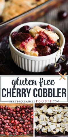 Gluten Free Cherry Cobbler, made with fresh or frozen sweet cherries, is the perfect summer dessert, especially when cooked up on the grill! Cherry Desserts, Cherry Recipes, Almond Recipes, Gluten Free Baking, Gluten Free Recipes, Keto Recipes, Tart Recipes, Baking Recipes, Frozen Cherries