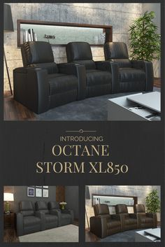 Our newest introduction built and design with urban appeal.  Enjoy premium home theater seating comfort and the pleasure of fine leather that's in stock now and ready to ship fast.