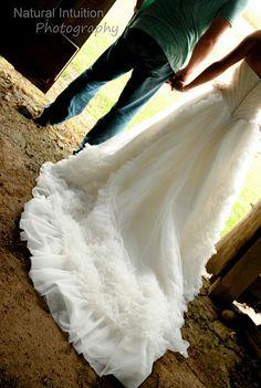 Wedding Dress, Trash the Dress, Barn
