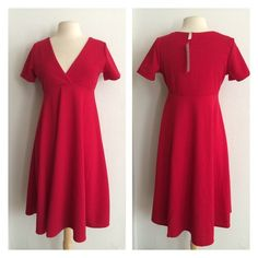 "(Plus) Red dress White dress. Very stretchy! 96% polyester/ 4% spandex. True to size. Dress shown in photos is size 1x. Bust stretches well beyond each measurement. May require a slip 1x- L: 41"" • B: 38"" 2x- L: 42"" • B: 40"" 3x- L: 43"" • B: 42"" 1x•2x•3x • 2•1•0 Price is firm unless bundled. No trades ⭐️This is a retail item. It is brand new either with manufacturers tags, boutique tags, or in original packaging. Dresses"