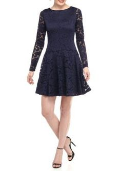 IVANKA TRUMP  Fit and Flare Lace Dress
