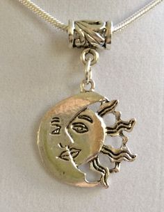Sun and Moon Pendant Necklace by joytoyou41 on Etsy, $25.00