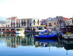The Harbour of Rethymno, #Crete #Greece - Rethymno dates back to Minoan times. More: http://en.wikipedia.org/wiki/Rethymno
