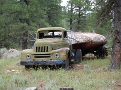 Old truck in the woods