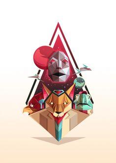 Art by Robert Fear...Starfox http://www.geek-art.net/geek-generation-art-show-by-geek-art-the-artworks/