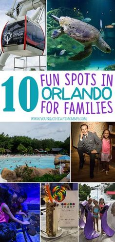 10 of the most FUN and interesting spots for families to visit while vacationing in Orlando, Florida.