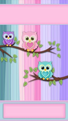 Discover thousands of images about iBabyGirl - this is an iphone wallpaper but I like the look of these owls so you could do something like this on a card or scrapbook page