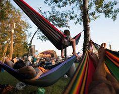Relaxing at the Winnipeg Folk Festival, Manitoba