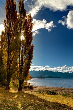 Autumn in Lake Wanaka, New Zealand.