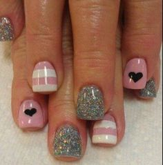 heart nail art – 70 Heart Nail Designs ♥ ♥ Previous Post Next Post Fancy Nails, Trendy Nails, Love Nails, My Nails, Heart Nail Art, Heart Nails, Heart Nail Designs, Nail Art Designs, Nails Design