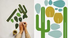 honey and fizz: Tutorial Tuesday - cardboard cactus by Beci Orpin