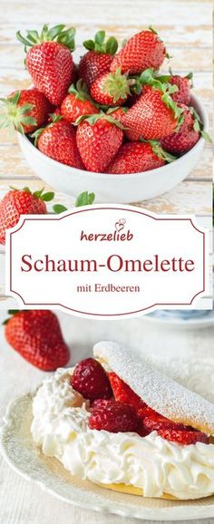 Erdbeeren-Rezept: Der Klassiker Schaum-Omelette