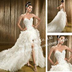 Sexy+Short+Wedding+Dresses | ... split-Tulle-Sexy-Bridal-Gown-Luxury-Wedding-Dress-Front-short-Long.jpg