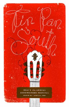 Another great expressive band poster  Tin Pan South Poster - theywillseeme