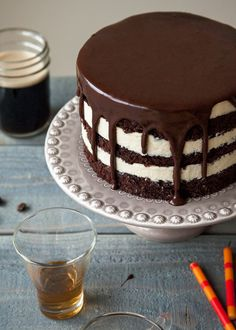 Grown-up Birthday Stout Cake - Style Sweet CA. Looks pretty amazing and would probably need a couple trial runs before trying to make it for a party but very impressive.