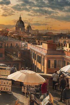 Rome, view fromTrinità dei Monti by Nicodemo Quaglia #rome #capitol #italy #overview