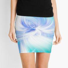 Fine Art Photography, Chiffon Tops, Tie Dye Skirt, Mini Skirts, Blue And White, Rainbow, Abstract, Digital, Printed