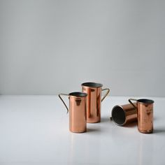 Image of vintage copper measuring cups