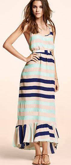 Cute striped maxi dress http://rstyle.me/n/i632dnyg6