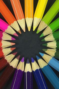 Rainbow  colored pencils