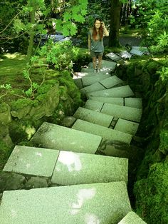 Portland Japanese Garden, Stepping Stones, Oregon, Gardening, Outdoor Decor, Stair Risers, Lawn And Garden, Urban Homesteading, Horticulture
