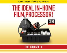 Jobo CPE-3 Processor is a motor-driven processor for all films from 35mm, 120 medium format, up to 4x5 sheet film, in Jobo tanks.