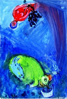 Marc Chagall - Study for ''Spring Time'', 1942. #arte