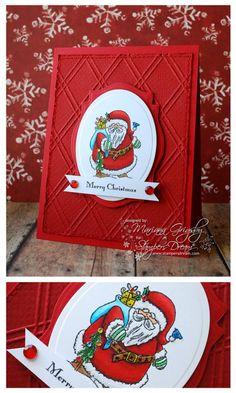 JustRite Christmas Card designed by Mariana Grigsby w/Spellbinders dies
