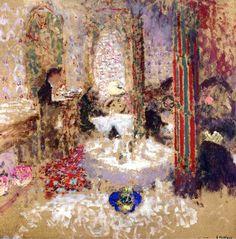 At the Restaurant Edouard Vuillard - circa 1897-1899