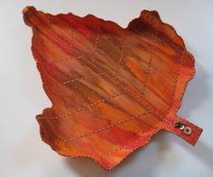 Leaf Shaped Fabric Tray