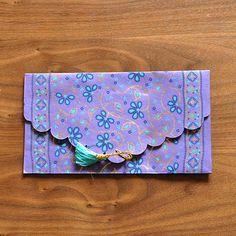 インド お花模様の封筒(パープル) - アジアン雑貨・ベトナム雑貨・アフリカ雑貨・中南米のカラフルな雑貨の通販サイト | 笑福Lotus(ワラフクロータス)