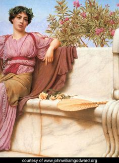 Tranquillity [detail: right] - John William Godward - www.johnwilliamgodward.org