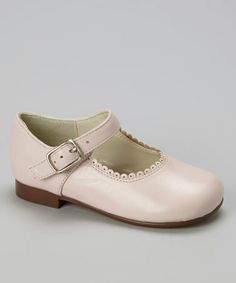 Look at this #zulilyfind! Pink Scalloped Leather Mary Jane by Aline #zulilyfinds