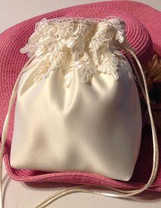 WEDDING BRIDAL Ivory Drawstring Bag w/ Ivory by globodesigns ...