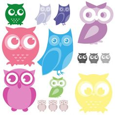 Cartoon Owls @Misti K Mays
