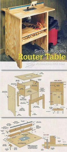 Simple Router Table Plans - Router Tips, Jigs and Fixtures | WoodArchivist.com