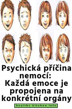 Psychická příčina nemocí: Každá emoce je propojena na konkrétní orgány Health, Poster, Fictional Characters, Fitness, Salud, Health Care, Posters, Healthy, Keep Fit