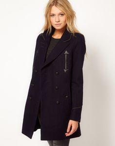 Love this: Asos Military Pea Coat @Lyst