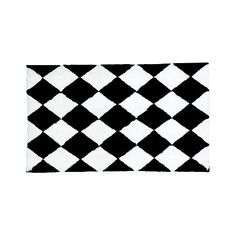 Harlequin Black White Rug Checkerboard