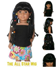 Our All Star wig is a textured African-American girl doll wig.