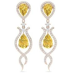 Lot: 14.09 CTW Royalty Canary Citrine & VS Diamond Earring, Lot Number: 7973, Starting Bid: $1, Auctioneer: Federal Government Liquidation, Auction: Exciting Fine Jewelry & Rolex Liquidation, Date: July 17th, 2017 CEST